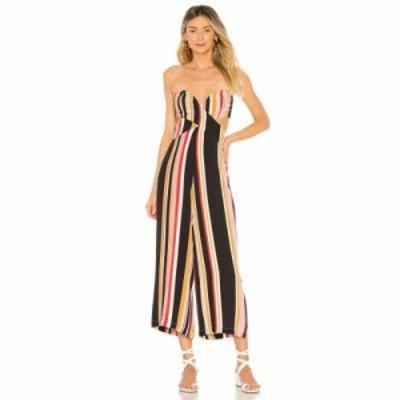 ハウスオブハーロウ1960 オールインワン x REVOLVE Joelle Jumpsuit Red Multi Stripe
