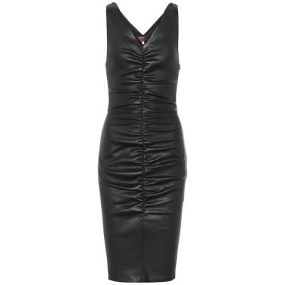 ストールス Stouls レディース ワンピース ワンピース・ドレス Lala leather dress Noir