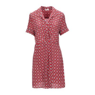 SANDRO ミニワンピース&ドレス レッド 38 シルク 100% ミニワンピース&ドレス