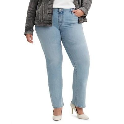 リーバイス デニムパンツ ボトムス レディース Trendy Plus Size Classic Straight-Leg Jeans Oahu Morning Dew