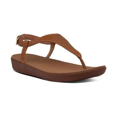 フィットフロップ サンダル シューズ レディース Lainey T-Strap Slingback Thong Sandals Light Tan