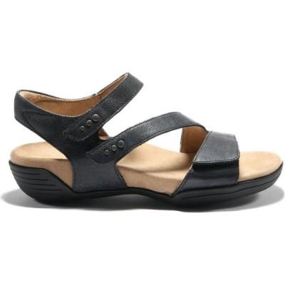 ハルサ HALSA FOOTWEAR レディース サンダル・ミュール アンクルストラップ シューズ・靴 Halsa Denia Ankle Strap Sandal Black Leather