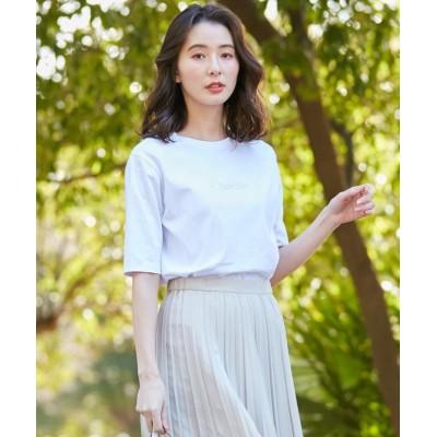 【J.プレス レディス】 Chortle ロゴTシャツ レディース ホワイト系 M J.PRESS LADIES