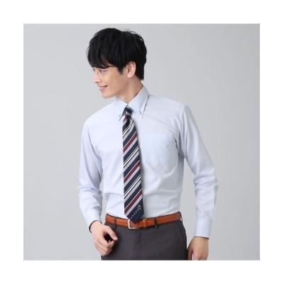 (BRICKHOUSE/ブリックハウス)【ディズニー】ワイシャツ長袖形態安定ボタンダウンミッキーシェイプ織柄 ジャスト/メンズ ブルー