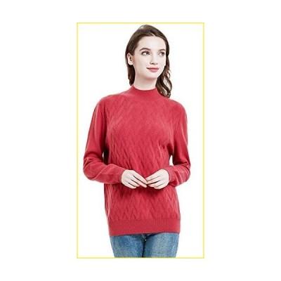 Casm〓 レディース カシミア ウールブレンド 長袖 プルオーバー モックネックセーター US サイズ: Medium カラー: マ