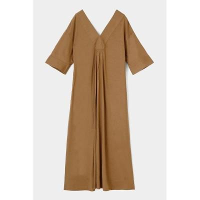 【マウジー】 RELAX V/N FLARE ドレス レディース L/BEG1 2 MOUSSY