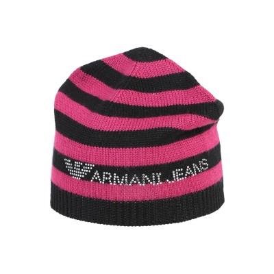アルマーニ ジーンズ ARMANI JEANS 帽子 モーブ II アクリル 50% / ウール 50% 帽子