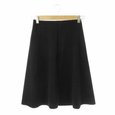 【中古】エムズセレクト m's select スカート フレア ミモレ ロング 34 黒 ブラック /MN14 ☆ レディース