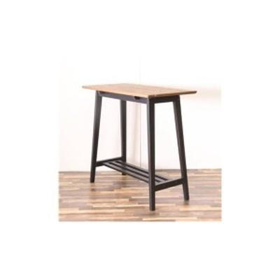 ハイテーブル ブラック テーブル カウンターテーブル カウンター デスク 机 ダイニングテーブル 天然木 カントリー おしゃれ 北欧 組立品
