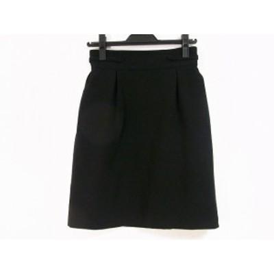 フォクシーニューヨーク FOXEY NEW YORK スカート サイズ38 M レディース 美品 - 黒 ひざ丈【中古】20200728