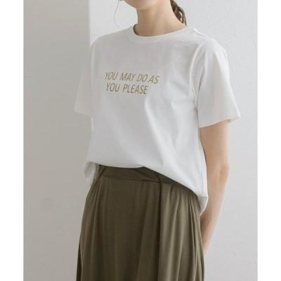 tシャツ Tシャツ 上品見えな大人のロゴTシャツ