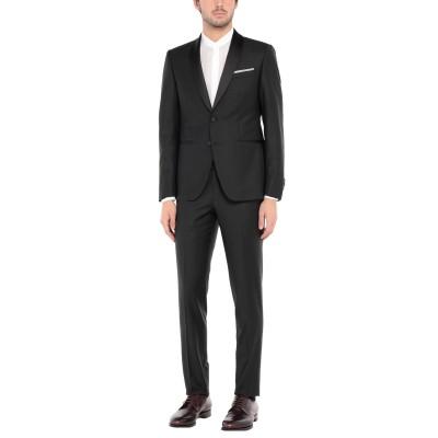 CITY TIME スーツ ブラック 48 ポリエステル 52% / バージンウール 43% / ポリウレタン 5% スーツ
