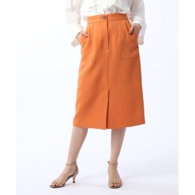 (UNTITLED/アンタイトル)ノベルクロスタイトスカート/レディース オレンジ(067)