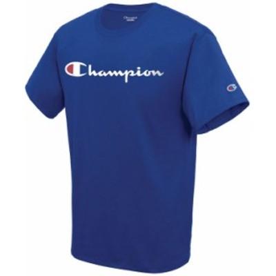 チャンピオン メンズ Tシャツ トップス Men's Script Logo T-Shirt Surf The Web