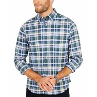 nautica ノーティカ ファッション アウター Nautica NEW Green Mens Size Medium M Plaid Print Button Down Shirt