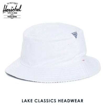 ハーシェル Herschel ハット Lake S/M Classics Headwear 1025-0052-SM White/Navy Gingham  父の日 ギフト プレゼント