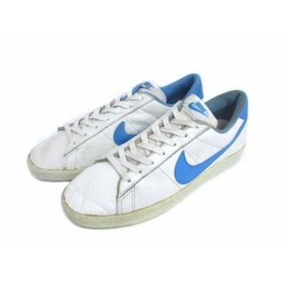 【中古】ナイキ NIKE 80's レザー スニーカー 靴 ヴィンテージ 白 水色 11 メンズ