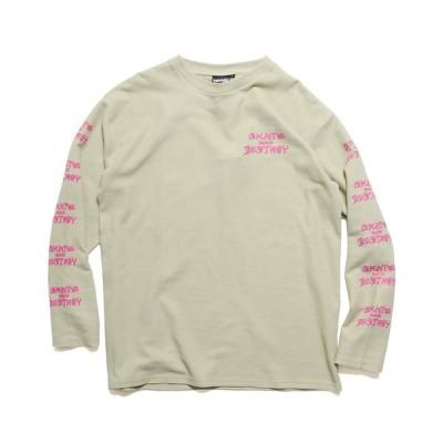 tシャツ Tシャツ THRASHER/スラッシャー SK8&DESTROY THERMAL L/S T-SHIRT ワッフル ロンT