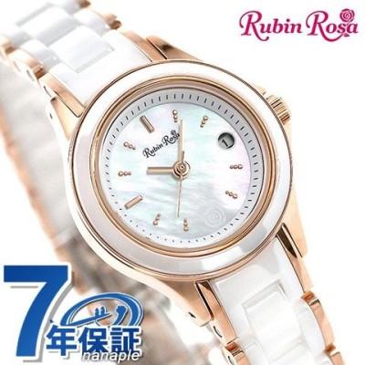 ルビンローザ Rubin Rosa ソーラー レディース 腕時計 R310PWHMOP R310シリーズ ホワイトシェル×ピンクゴールド