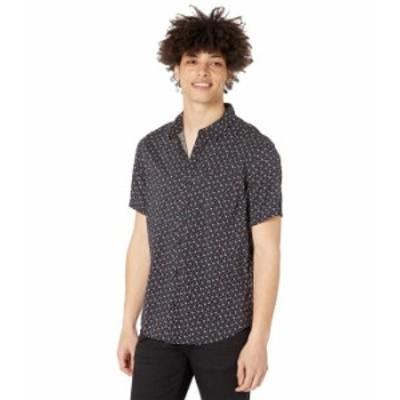 ルーカ メンズ シャツ トップス Solomon Floral Short Sleeve Woven Black
