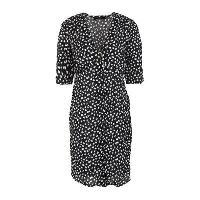 ALLSAINTS ミニワンピース&ドレス ブラック S レーヨン 100% ミニワンピース&ドレス