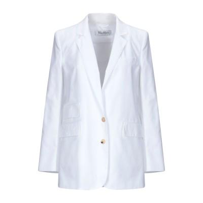 マックスマーラ MAX MARA テーラードジャケット ホワイト 42 コットン 100% テーラードジャケット