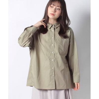 【テチチ】 抜け衿ビッグシャツ レディース カーキ F Te chichi
