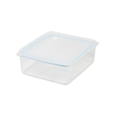 パール金属 Easy Clean 深型密閉保存容器(L)(ブルー)