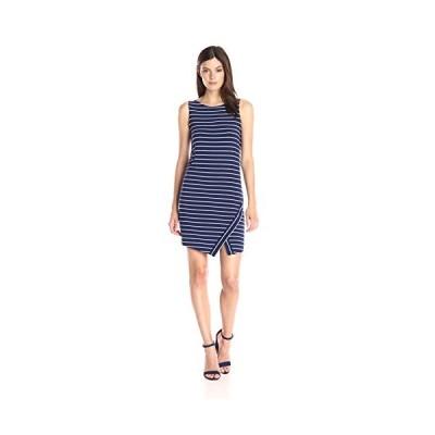 Kensie レディース Light Weight Viscose スパンデックス ストライプ ドレス with Slit, True(海外取寄せ品)