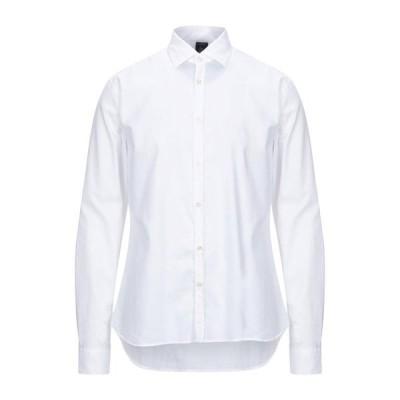 MARINA YACHTING 無地シャツ ファッション  メンズファッション  トップス  シャツ、カジュアルシャツ  長袖 ホワイト