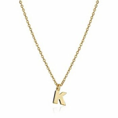 """1928 Jewelry Gold-Tone 7mm Initial """"K"""" Pendant Necklace, 20"""""""