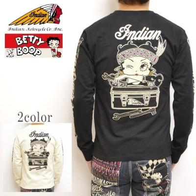 インディアンモトサイクル ベティブープ Indian Motocyacle BBI-901 天竺 長袖 Tシャツ BETTY ロンT メンズ
