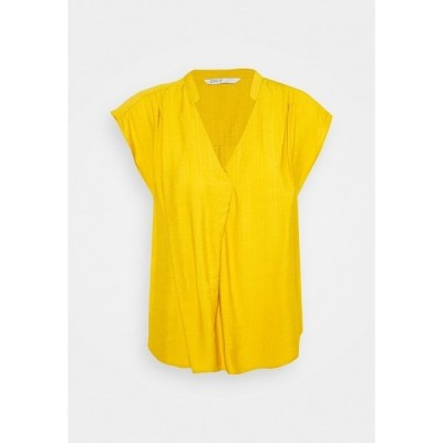 オンリー シャツ レディース トップス ONLJOSEY V NECK  - Basic T-shirt - nugget gold
