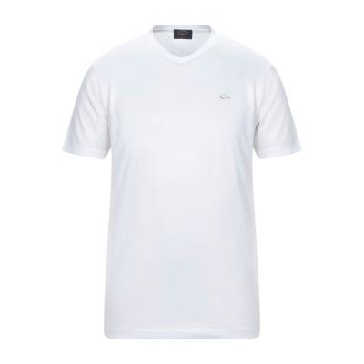 ポール・アンド・シャーク PAUL & SHARK T シャツ ホワイト S コットン 100% T シャツ