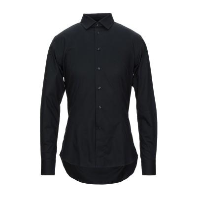 BRANCACCIO シャツ ブラック 40 コットン 97% / ポリウレタン 3% シャツ