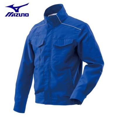 ワークウェア ミズノ ワークジャケット ワーキング C2JE818224 ブルー 春夏素材