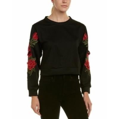 ファッション トップス Aiden Lace Applique Sweatshirt