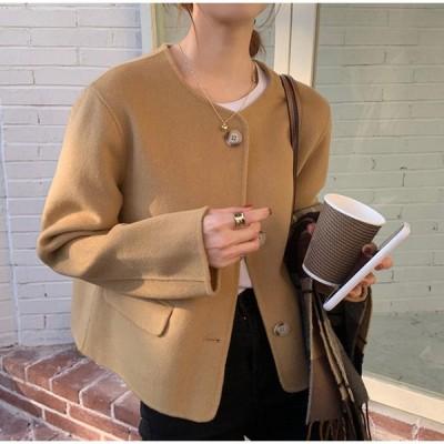 ノーカラージャケット アウター ゆったり きれいめ 上品 通勤 大人可愛い シンプル