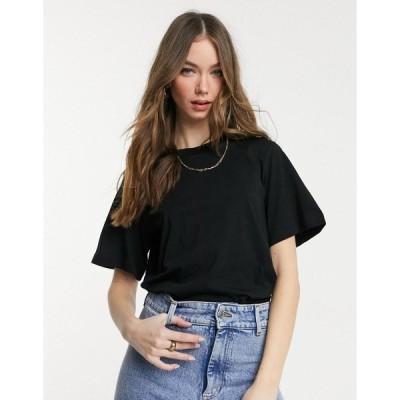 アンドアザーストーリーズ レディース Tシャツ トップス & Other Stories organic cotton t-shirt in black Black