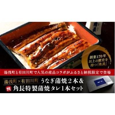 BC6001_うなぎ蒲焼2本&角長特製蒲焼タレ1本セット【湯浅町×有田川町】