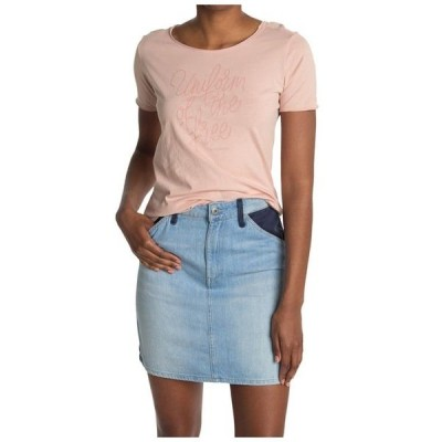 ジースター レディース Tシャツ トップス Graphic Short Sleeve T-Shirt Liquid Pink