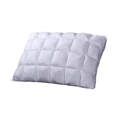sheetsnthings French Bread Firm Neck Support, 600TC-Cotton Shell Goose Down Fill, King Size Pleated Bed Pillow, Single