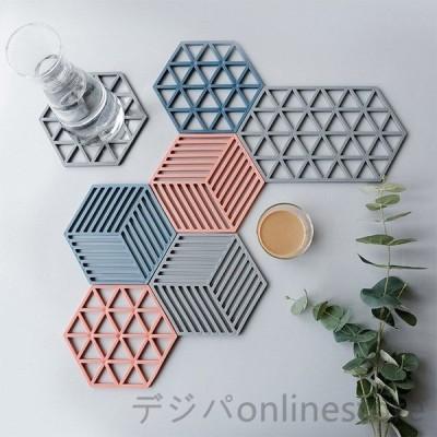断熱キッチンプレースマット簡約デザイン 食器用 ランチョンマット プレースマット ダイニングパッド テーブル 滑り止め 六角形