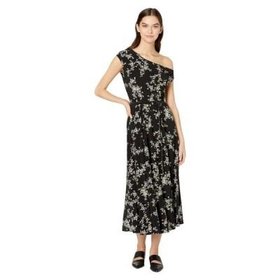 ノーマ カマリ KAMALIKULTURE by Norma Kamali レディース ワンピース ワンピース・ドレス Drop Shoulder Flared Dress to Midcalf Delicate Flowers