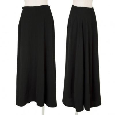 ワイズY's ウールギャバデザインロングスカート 黒M 【レディース】