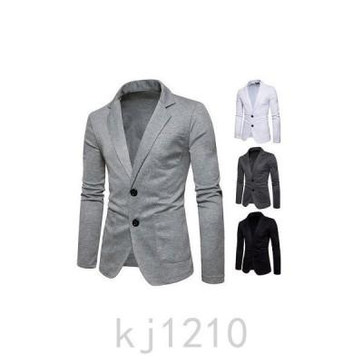 スーツジャケットメンズテーラードジャケットアウターカジュアルスーツブレザービジネス無地シングルストレッチファッション