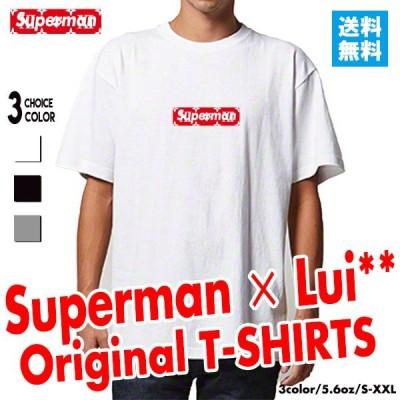 ストリート大人気 ブランド Tシャツ Superman コラボ パロディ ボックスロゴ オシャレ トレンド モード