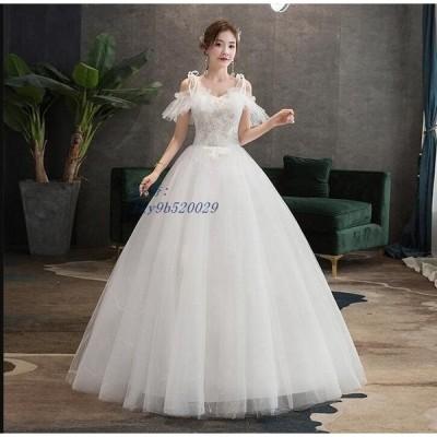 期間セール 新品 素敵 ウェディングドレス プリンセスライン 大きいサイズ 花嫁 披露宴 パーティードレス 二次会 着痩せ ブライダル 結婚式 司会