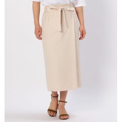【リエス/Liesse】 巻き風ウエストリボンスカート