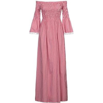 TOY G. ロングワンピース&ドレス レッド S コットン 64% / ナイロン 33% / ポリウレタン 3% ロングワンピース&ドレス